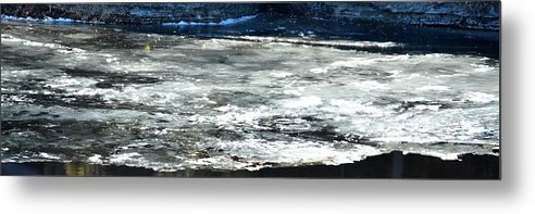 Ice Metal Print featuring the photograph Ice On The Wisconsin River by Karen Majkrzak