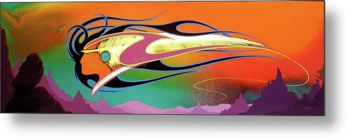 Desert Paintings Metal Print featuring the painting Spirit Wind by Alan Johnson