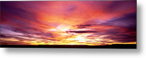 Photography Metal Print featuring the photograph Sunset, Canyon De Chelly, Arizona, Usa by Panoramic Images