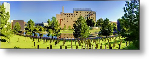 National Metal Print featuring the photograph Oklahoma City National Memorial by Ricky Barnard