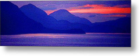 Pacific Metal Print featuring the photograph After Sunset Mountains 5 Pd by Lyle Crump