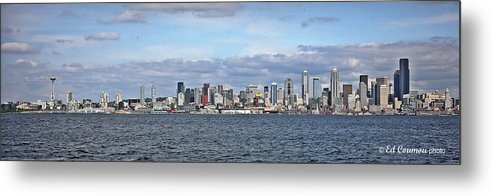 Seattle Metal Print featuring the photograph Seattle Skyline by Edward Coumou