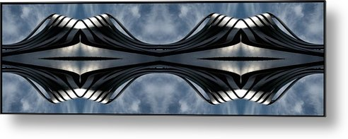 Abstract Metal Print featuring the photograph Steel Waves by Rachel Dunn