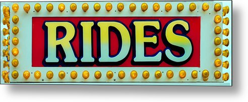 Fair Metal Print featuring the photograph Rides by Skip Willits