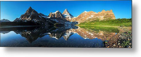 Horizontal Metal Print featuring the photograph Mount Assiniboine by Piriya Photography