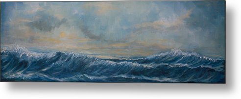 Marine Art Metal Print featuring the painting Natures Spirit by Amos Ochieno