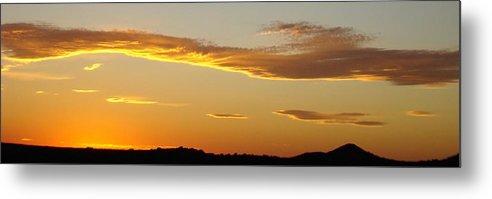 Sunset Metal Print featuring the photograph Yellow Sky Three by Ana Villaronga