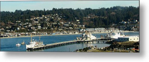 Yaquina Bay Metal Print featuring the photograph Docks Of Yaquina Bay by Amanda Roberts