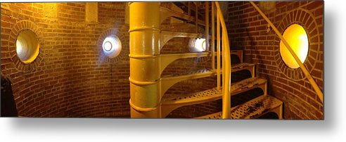 Light House Stairs Barnegat Light House New Jersey Metal Print featuring the photograph Lighthouse by Shannon OBrien