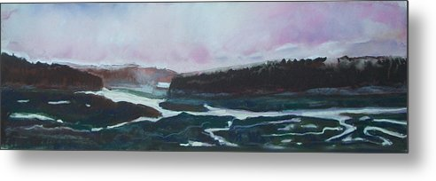 Maine Metal Print featuring the pastel Towards Edgecomb by Grace Keown