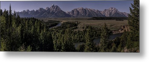 Grand Teton National Park Metal Print featuring the photograph Tetons In Midnight Moonlight by Ed Kelley