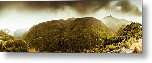 Tasmania Metal Print featuring the photograph Mountain Of Trees by Jorgo Photography - Wall Art Gallery