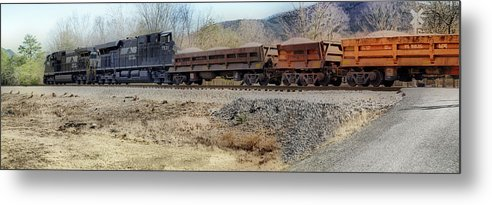 Train Metal Print featuring the photograph Vesuvius Train by Kathy Jennings