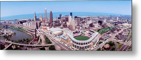 Photography Metal Print featuring the photograph Aerial View Of Jacobs Field, Cleveland by Panoramic Images