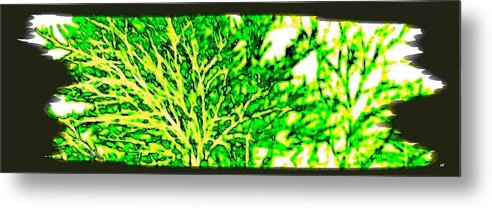 Arbres Verts Metal Print featuring the digital art Arbres Verts by Will Borden