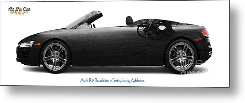 Travel Metal Print featuring the mixed media Audi R8 Gettysburg Address by Art Faul