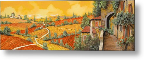 Tuscany Metal Print featuring the painting Bassa Toscana by Guido Borelli