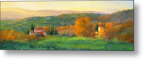 Chianti Metal Print featuring the painting Chianti Glow by Bunny Oliver