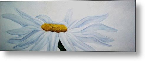 Flower Metal Print featuring the painting Daisy by Elsa Gallegos