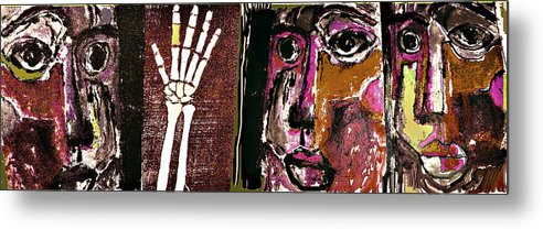Violence Metal Print featuring the mixed media Intervention 3 by Noredin Morgan