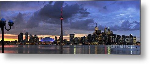 Toronto Metal Print featuring the photograph Toronto Skyline by Elena Elisseeva