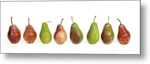 Food And Drink Metal Print featuring the photograph Pears by Bernard Jaubert