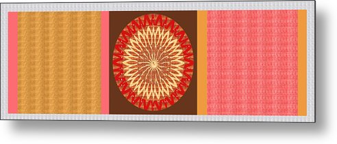 Chakra Metal Print featuring the painting Chakra Mandala With Crystal Stone Healing Energy Plates By Side Navinjoshi Rights Managed Images Fo by Navin Joshi