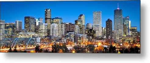 Denver Metal Print featuring the photograph Denver Twilight by Kevin Munro