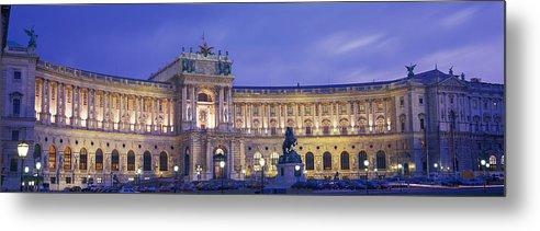 Photography Metal Print featuring the photograph Hofburg Imperial Palace, Heldenplatz by Panoramic Images