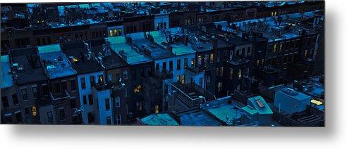 New York City Metal Print featuring the photograph New York City Nightfall by David Berg