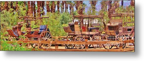 Wagons Metal Print featuring the photograph Preserved by Marilyn Diaz