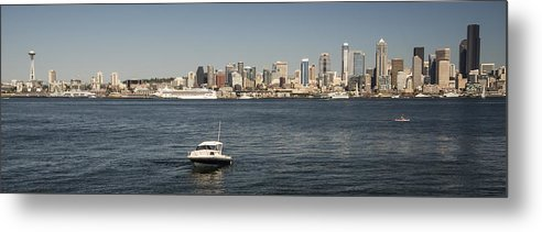 Photography Metal Print featuring the photograph Seattle From Alki Beach by Lee Kirchhevel