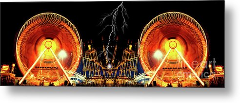 Carnival Metal Print featuring the photograph Super Charge My Ride by Paul W Faust - Impressions of Light