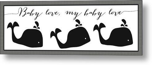 Nursery Metal Print featuring the digital art Whimsical Whale by Legend Imaging