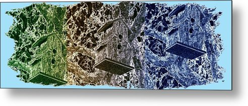 Abstract Fusion Metal Print featuring the digital art Abstract Fusion 160 by Will Borden