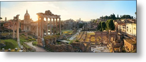 Rome Metal Print featuring the photograph Rome Forum by Songquan Deng