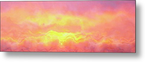 Abstract Art Metal Print featuring the mixed media Above The Clouds - Abstract Art by Jaison Cianelli
