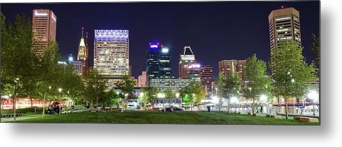 Baltimore Metal Print featuring the photograph Baltimore Panorama 2016 by Frozen in Time Fine Art Photography