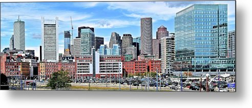 Boston Metal Print featuring the photograph Bean Town Pano by Frozen in Time Fine Art Photography