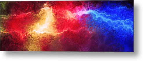 Abstract Art Metal Print featuring the painting Creation - Abstract Art by Jaison Cianelli