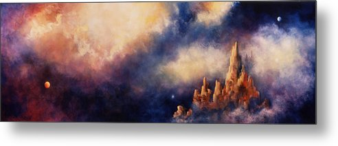 Landscape Metal Print featuring the painting Dreaming Sedona by Marina Petro