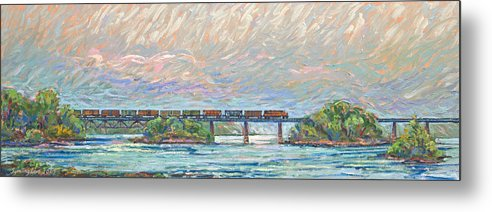 Train Metal Print featuring the painting Fairfield Trestle by Gary Symington