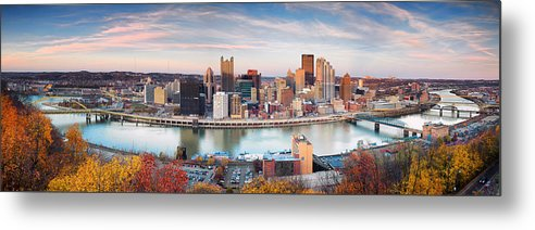 Steelers Metal Print featuring the photograph Fall In Pittsburgh by Emmanuel Panagiotakis