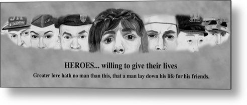 911 Metal Print featuring the drawing Heroes by Michael McFerrin