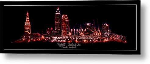 Cleveland Metal Print featuring the photograph Nightlife by Kenneth Krolikowski