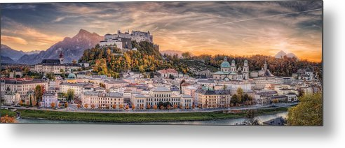 Landscape Metal Print featuring the photograph Salzburg In Fall Colors by Stefan Mitterwallner
