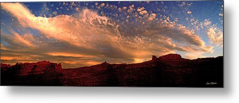 Moab Metal Print featuring the photograph Sunset Over The Moab Rim 2 by Dan Norris