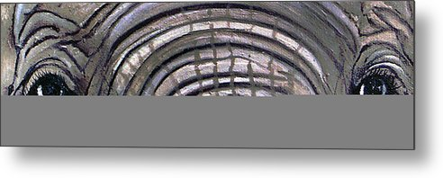 Elephant Eyes Metal Print featuring the painting Whos Watching Who by Darlene Green