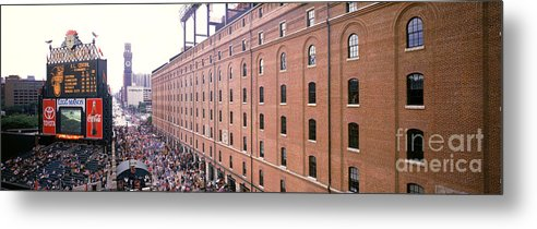 American League Baseball Metal Print featuring the photograph Colorado Rockies V Baltimore Orioles by Jerry Driendl