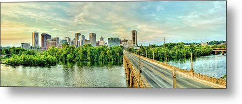 Mayo Bridge Metal Print featuring the photograph From Across The James by Tim Wilson